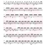 Sugar - Maroon 5 Free Drum Sheet Music Page 3